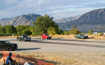We passed by some evening drags at the local strip in Osoyoos.